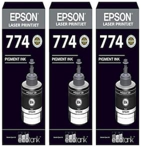 Laser Printjet Epson compatible Ink T7741 Black Ink Pack of 3 For M100/200 Single Color Ink (Black)