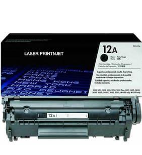 LASER PRINTJET Hp 12A Toner Cartridge Single Color Toner (Black)