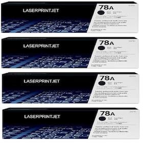 LASER PRINTJET HP 78A Toner Cartridg Single Color Toner (Pack Of 4) (Black)