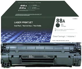 LASER PRINTJET HP 88A Toner Cartridge Single color Toner (Pack Of 2) (Black;Blue)