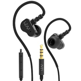 Leaf Bolt Dual Driver Wired Earphones (Black)