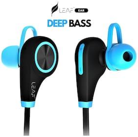 Leaf Ear Wireless Bluetooth Earphones with Mic (Cool Blue)