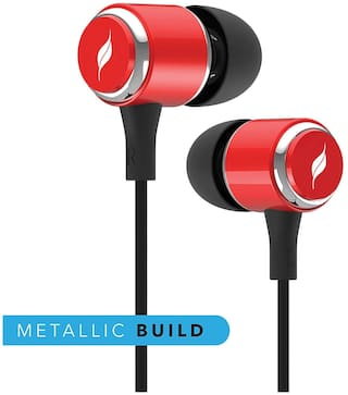 08062f9215a Buy Leaf METAL2 Wired Earphones with Mic and in-Line Remote (Ferrari ...