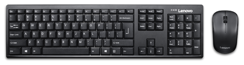 Lenovo 100 Wireless Keyboard   Mouse Set   Black   by IT Peripherals