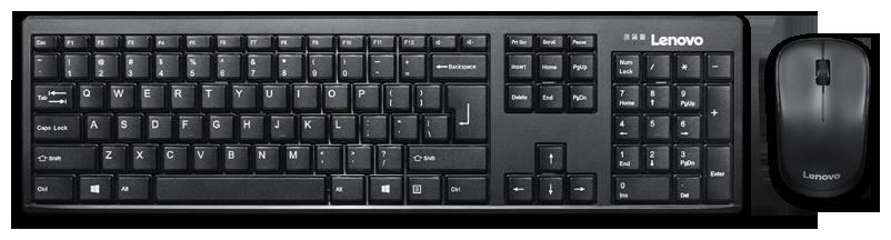 Lenovo 100 Wireless Keyboard   Mouse Set   Black