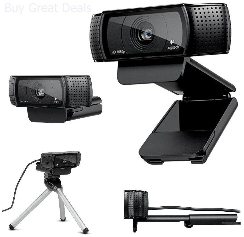 Logitech Full HD Pro Video Streaming Recording Webcam 15MP 60Fps 1080P Camera