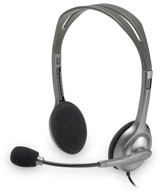 Logitech H110 Wired Over Ear Headset (Grey)