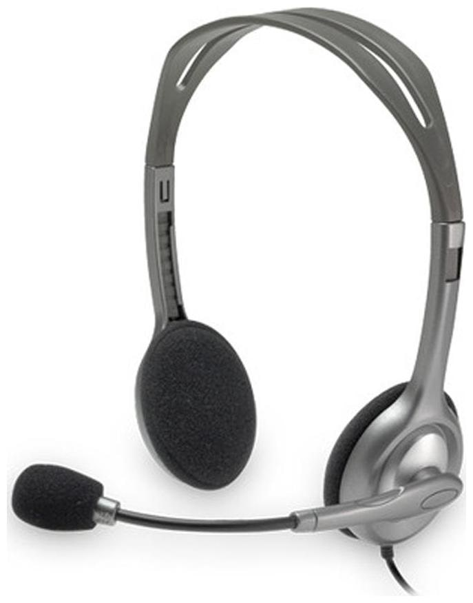 Logitech H110 Wired Over Ear Headset  Grey