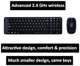 Logitech Logitech wireless combo mk220 - india Wireless Keyboard & Mouse Set ( Black )