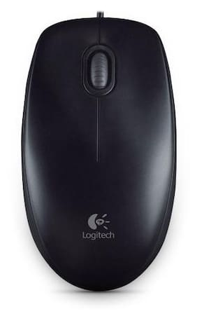 Logitech M100r USB (Wired) Mouse (Black)