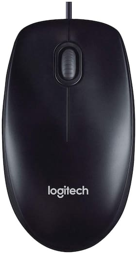 Logitech M90 Wired Mouse ( Black )