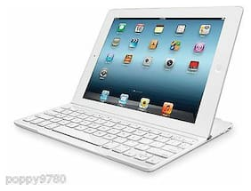 Logitech Magnetic Clip On Ultrathin Bluetooth Keyboard iPad Mini, Mini 2,3 White