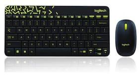 Logitech Mk240 Wireless Keyboard & Mouse Set ( Black )