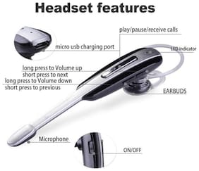 LS Letsshop Stereo Bluetooth Headset HM-1000
