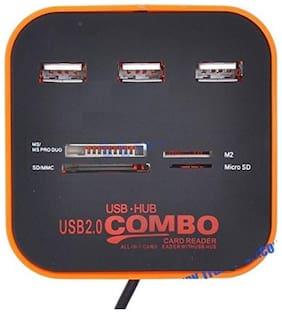 M Mod Con Card Reader+3 Port USB2.0 USB Hub (Multi)