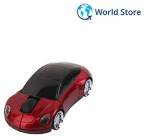 Magideal 2.4G Wireless Car LED Optical Mouse USB receiver for PC Laptop -Red