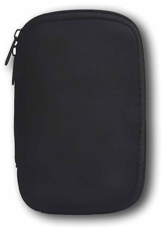 Mangalam Pouch For 2.5 Inch External Hard Disk (Black)