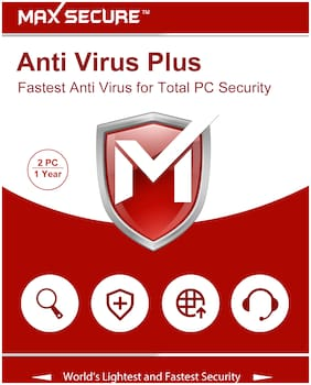 Max Secure Anti Virus ( 2 Pc , 1 Year )