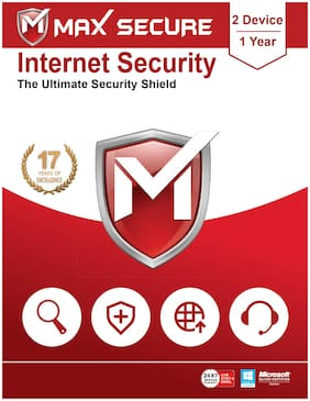 Max Secure Internet Security ( 2 PC , 1 yr ) Security Softwares