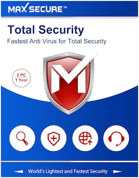 Max Secure Total Security Version 6 - 2 PC, 1 Year (Activation Key Card) [registration code]