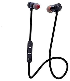 Maxxlite Magnetic Bluetooth Headphone with Mic, Compatible for all Smart phones.
