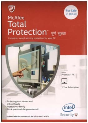 McAfee Total Security ( 1 PC , 1 yr )