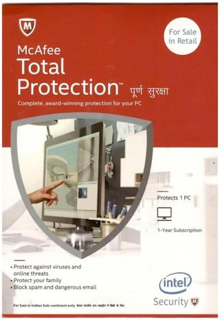 McAfee Total security ( 3 pc , 1 year )