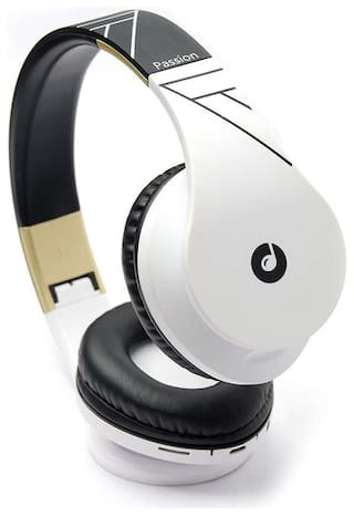 Melomane Passion White & Gold - 812 On-Ear Bluetooth Headset ( White )