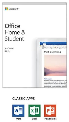 Microsoft Office Home & Student 2019, One-time purchase - Lifetime Validity, 1 person, 1 PC or Mac