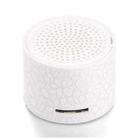 Mini Portable LED Speakers Wireless Hands Free Speaker with TF Port-White