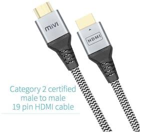 MIVI HC2B2-BK HDMI Cable (Black;Grey)