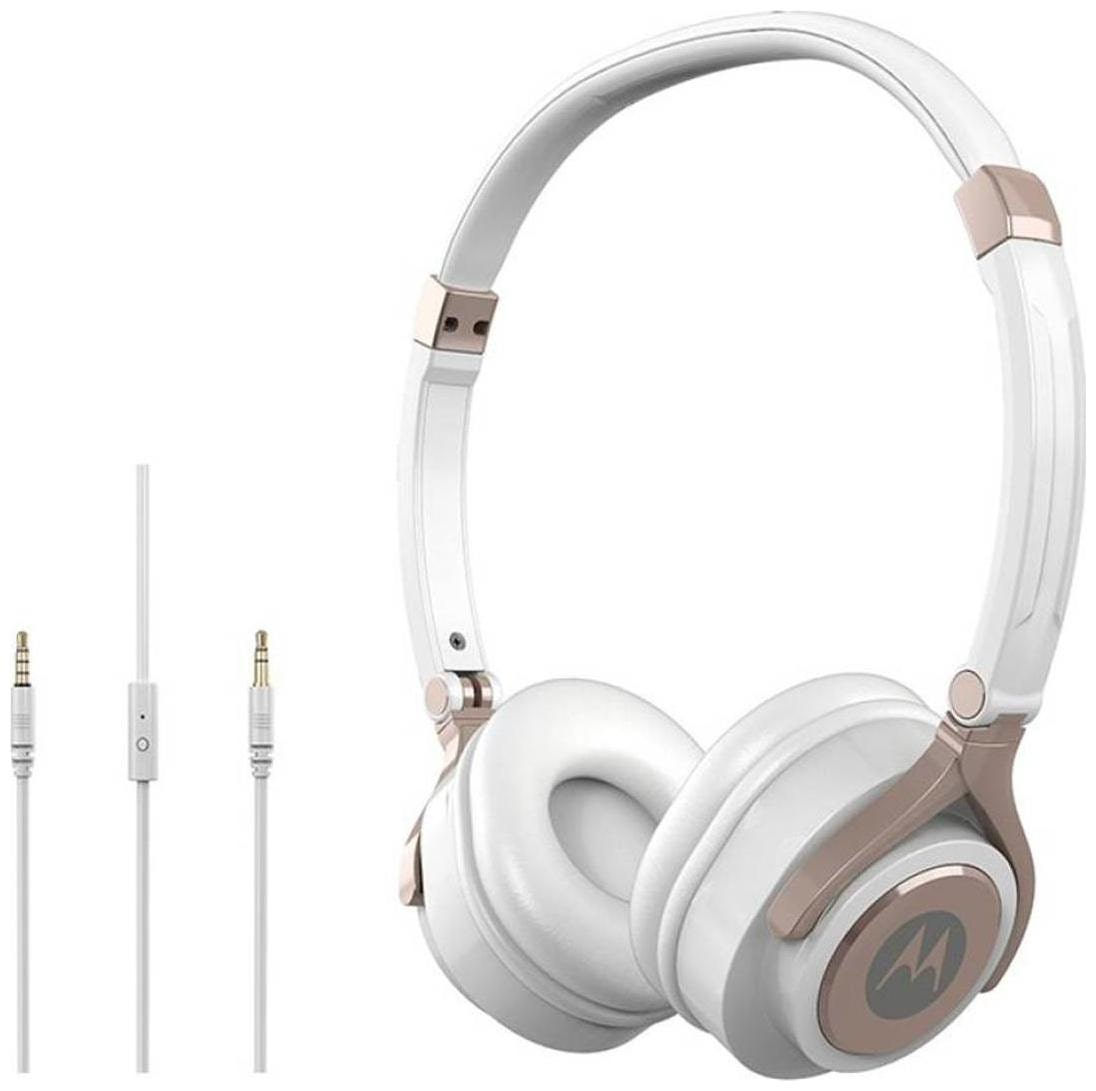 Motorola Pulse 2 Over Ear Headset With Mic  White