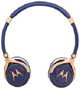 Motorola Pulse 3 Max Headset with Mic  (Blue Gold, Over the Ear)
