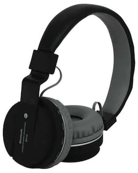 MS TRADING COMPANY SH12 Over-Ear Bluetooth Headset ( Black )