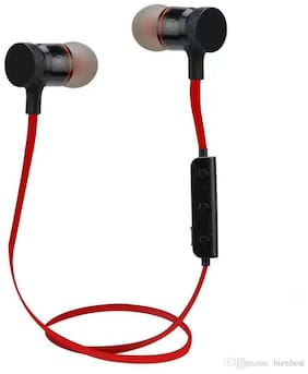 MS TRADING COMPANY Magnetic BT In-Ear Bluetooth Headset ( Assorted )
