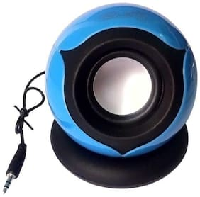 QUXXA Wired Portable speaker ( Blue )