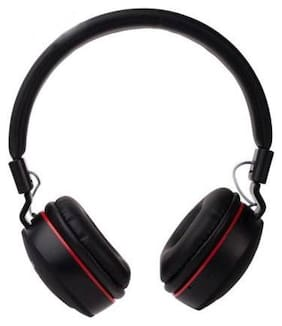 MS TRADING COMPANY Over-Ear Bluetooth Headset ( Black )