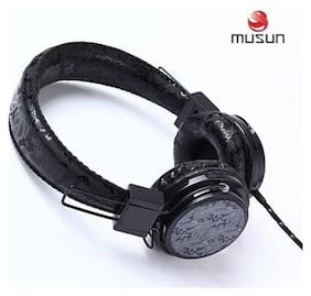 MUSUN MS-E19 Wired Headphone(Black)