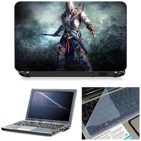 Namo Arts 3in1 Combo - Laptop Skins 15.6 inch with ,Laptop Screen Protector and Laptop KeyGuard for ALL DELL,APPLE,LENOVO,ACER,HP LAPTOP  - Notebook LISMU1060 Worrier in action