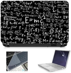 Namo Arts 3in1 Combo - Laptop Skins 15.6 inch with ,Laptop Screen Protector and Laptop KeyGuard for ALL DELL,APPLE,LENOVO,ACER,HP LAPTOP  - Notebook LISMU1021 E=mc Square