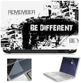 Namo Arts 3in1 Combo - Laptop Skins 15.6 inch with ,Laptop Screen Protector and Laptop KeyGuard for ALL DELL,APPLE,LENOVO,ACER,HP LAPTOP  - Notebook LISMU1010 Be different