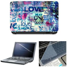 Namo Arts 3in1 Combo - Laptop Skins 15.6 inch with ,Laptop Screen Protector and Laptop KeyGuard for ALL DELL,APPLE,LENOVO,ACER,HP LAPTOP  - Notebook LISMU1039 Love typography