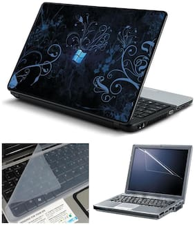 Namo Arts 3in1 Combo - Laptop Skins 15.6 inch with ,Laptop Screen Protector and Laptop KeyGuard for ALL DELL,APPLE,LENOVO,ACER,HP LAPTOP  - Notebook LISMU1025 Floral Window