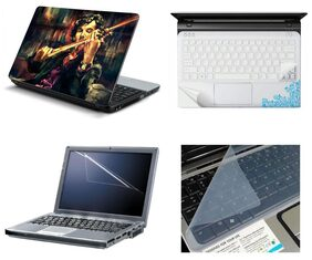 Namo Arts 4in1 Laptop Accessories Combo - Laptop Skins 15.6 inch Stickers with Laptop TrackPad Skin , Laptop Screen Protector and Laptop KeyGuard for All Laptop - Notebook  PTMHQ10081 Sherlock Holmes