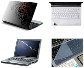 Namo Arts 4in1 Laptop Accessories Combo - Laptop Skins 15.6 inch Stickers with Laptop TrackPad Skin , Laptop Screen Protector and Laptop KeyGuard for All Laptop - Notebook  PTMHQ10031 3d abstract