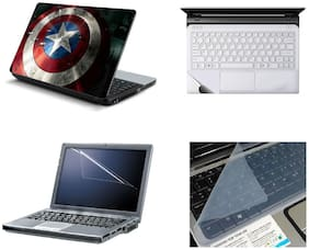 Namo Arts 4in1 Laptop Accessories Combo - Laptop Skins 15.6 inch Stickers with Laptop PTMHQ10020 assassins creed running