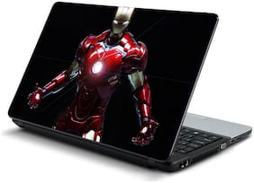 Namo Arts  Iron Man in action black background Laptop Skin Stickers for HP-Dell-Lenovo-Acer-Asus 15.6 inch Laptops / Notebooks