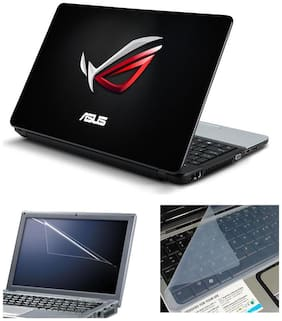 Namo Arts Laptop Skins with Laptop Screen Protector and Laptop KeyGuard for All Laptop - Notebook  PTMHQ110011033 3D Cool Asus Logo
