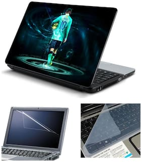 Namo Arts Laptop Skins with Laptop Screen Protector and Laptop KeyGuard for All Laptop - Notebook  PTMHQ110011071 Messi Golden Player