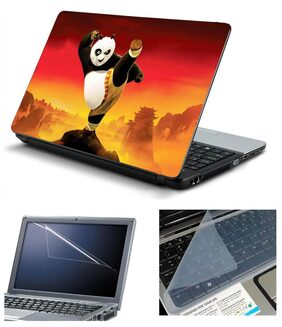 Namo Arts Laptop Skins with Laptop Screen Protector and Laptop KeyGuard for All Laptop - Notebook  PTMHQ110011066 Kungfu Panda